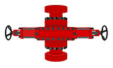 Blowout preventer. Vector