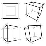 Wireframe Boxes. Vector Illustration EPS10