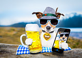 bavarian beer dog  selfie