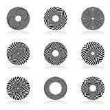 Circle design elements. Lines patterns.