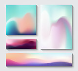Flow design vector templates