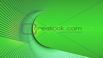 Abstract geometric green background with twisted lines