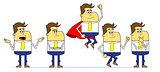 Cartoon business man characters.