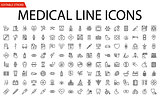 Medical Vector Icons Set.