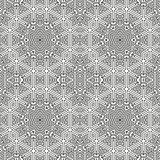 Ornamental linear pattern. Detailed vector illustration. Seamless black and white texture. Mandala design element.