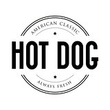 American Classic Hot Dog vintage stamp