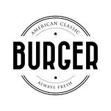 American Classic Burger vintage stamp