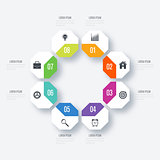 Vector octagon elements for infographic