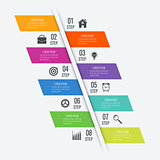 Infographic design template eight option.