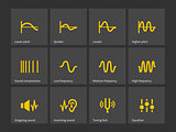 Wave and equalize audio icons.