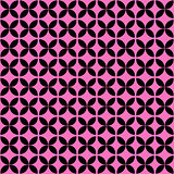 Pink and black geometric seamless pattern.