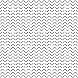 Thin wavy lines seamless vector pattern.