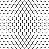 Hexagon grid cells vector seamless pattern.