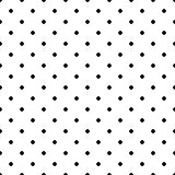 Dotted monochrome vector seamless pattern.