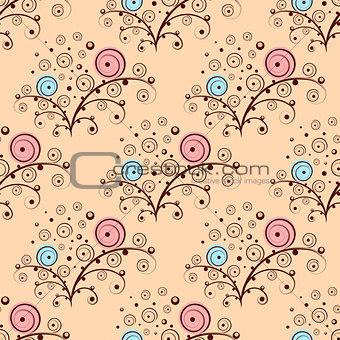 Abstract seamless flower elements