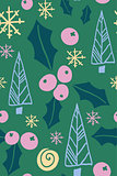 Christmas seamless pattern with fir tree