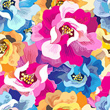 Seamless bright floral pattern