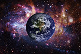 Planet Earth from space. Elements of this image furnished by NASA.
