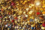 Locks of love on bridge
