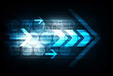 Vector abstract background technology arrows concept.