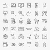 Cyber Security Line Icons