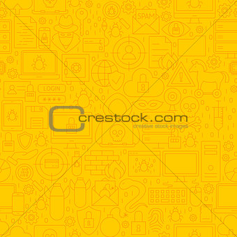 Cyber Security Yellow Line Pattern