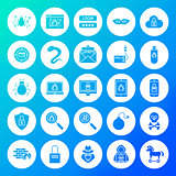 Hacker Circle Solid Icons