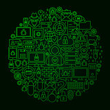 Hacker Line Circle Concept