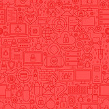 Hacker Line Tile Pattern