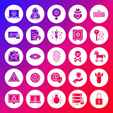 Internet Security Solid Circle Icons