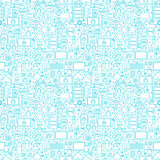 Internet Security White Seamless Pattern