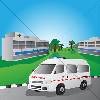 ambulance car vector illustration.