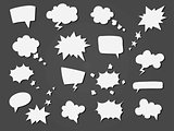 Cartoon speech balloons collection.