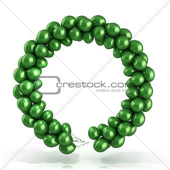 Green balloons wreath