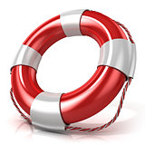 Lifebuoy isolated