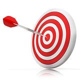 Dart hitting a target, 3D