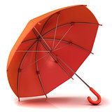 Red umbrella 3D