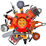Vector Cable Reel with Power Tools