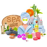 Vector Female SPA Salon