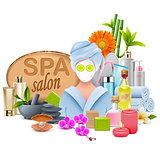 Vector Female SPA Salon