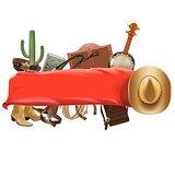 Vector Festive Cowboy Banner