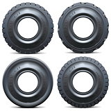 Vector Forklift Tractor Tire