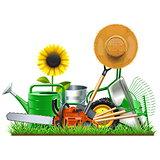 Vector Garden Accessories Concept