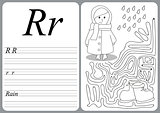 educational game to learn handwriting with easy gaming level for kids R - rain