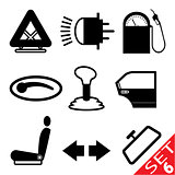 Car part icon set 6