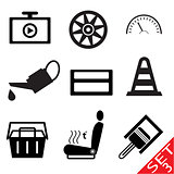 Car part icon set 3