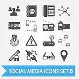 Social media icons set 6