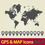 World map icon 4