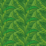 Seamless Pattern, Green Leaves