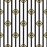 Seamless rhombus black and white pattern.